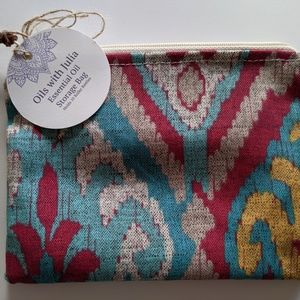 Handmade Lined Essential Oil Zipper Pouch